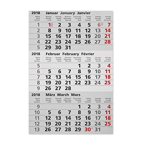 Truento Kalendarium für 2 Jahre (2021 & 2022) - passend für 3-Monats-Tischkalender Edelstahl