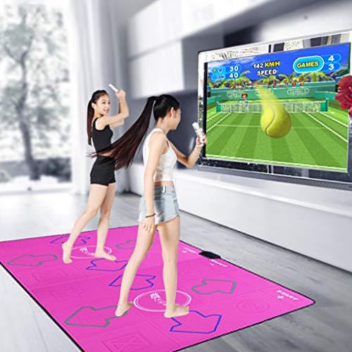 ZJJXD Doppelte Kabellose Tanzdecke, TV-Computer Mit Doppeltem Verwendungszweck, Download Zur Unterstützung Von TV-Songs, Weiche Tanzdecke Für Erwachsene Und Kinder, Rutschfester, Matter Stoff