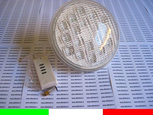 Aftertech® LAMPARA LED PAR 56 RGB 18x3w PARA PISCINA 54w = 4-300w 12v CAMBIO COLOR E6F1