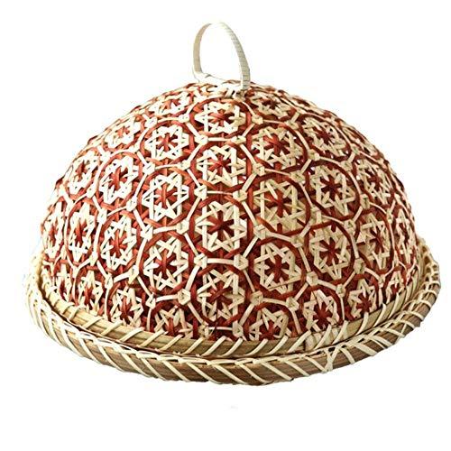LIMMC handgemaakte bamboe voedsel fruit rieten rotan stro mand brood met deksel ronde plaat keuken opslag brood organisator natuurlijke gezondheid