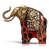 Tooarts Regalos de metal elefante escultura ornamento