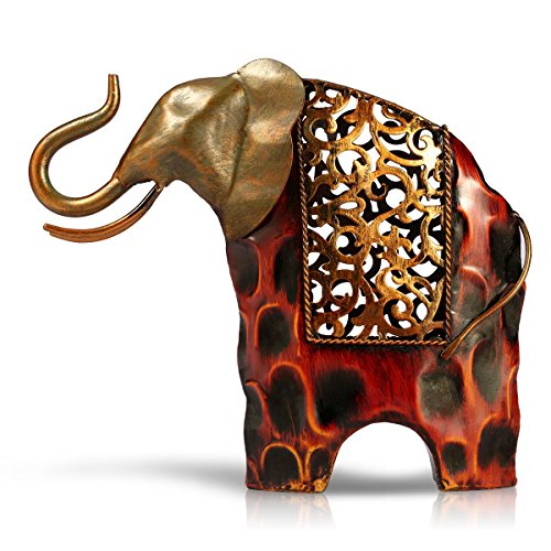 Tooarts Elephant Metal Sculpture Animal Gifts Ornament Gifts for Christmas Home Office Decorations