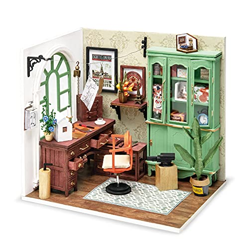 Rolife DIY Mini Holz Puppenhaus mit Möbel DIY, Jimmy's Studio