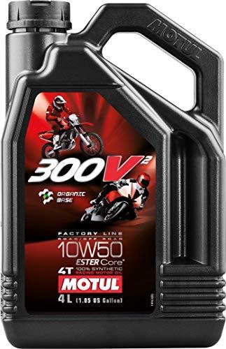 Motul Factory Line 300V2 4T %100 Full Synthetic Racing Motor Oil - 10W50 - 4 Liter Jug