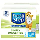 Fresh Step Advanced Simply Unscented Clumping Cat Litter, Recommended by Vets, 37 lbs Total (2 Pack of 18.5 lb Boxes)