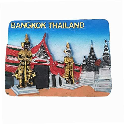 Imán de nevera 3D de Bangkok Tailandia para regalo de recuerdo de viaje, decoración para el hogar y la cocina de Bangkok Tailandia imán de la colección