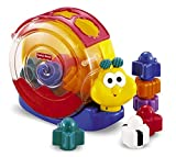 Fisher-Price - Caracol bloques y música (Mattel 71922) , Modelos/colores Surtidos, 1 Unidad