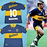 Diego Maradona Boca Juniors 1997-98 Argentine Rétro Maillot de rugby (M)