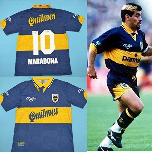 Diego Maradona Boca Juniors 1997-98 Argentinien Retro Fußball Rugby Trikot (L)