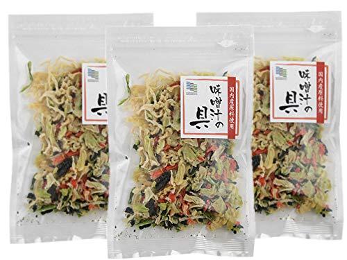乾燥味噌汁の具22g×3個セット (国内産原料使用)(キャベツ 人参 小松菜 大根)を熱湯で戻せます!やさいの旨味、食感、栄養、美味しさが食卓でお楽しみ頂けます