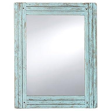 Prinz 18.5  x 23.5  Blue Water's Edge Homestead Mirror Distressed Wood