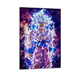 DRAGON VINES Goku Ultra Instinct Anime Bluray Anger Impression murale 60 x 90 cm