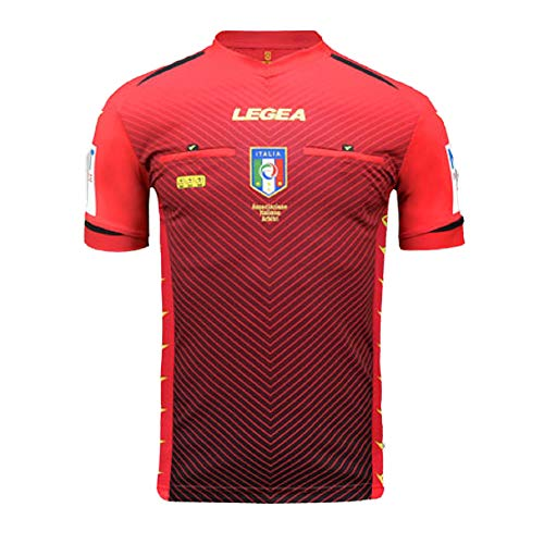 LEGEA 2020/2021, Maglia Arbitro AIA M/C Uomo, Rosso, M