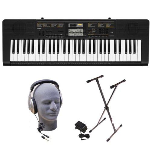 Casio Inc. CTK2400 PPK 61-Key Premium Portable Keyboard Package