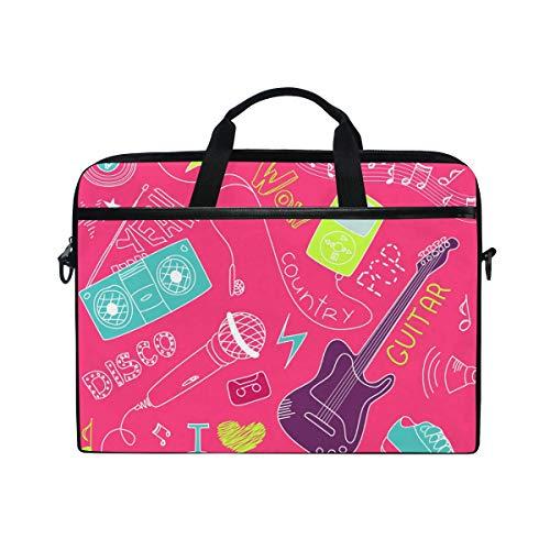 LUPINZ Notebook- und Tablet-Tasche mit Gitarren-Motiv, Pink, 38,1 cm (15 Zoll)
