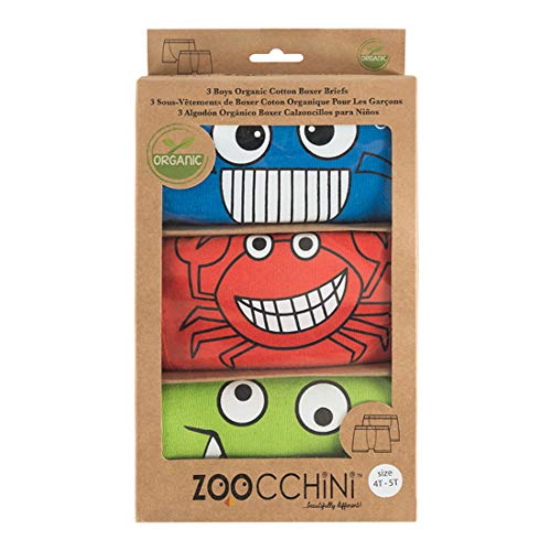 Zoocchini Chompy Set 3 boxershorts voor jongens 5 – 6 jaar