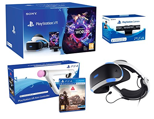 PlayStation VR2 (CUH-ZVR2) Farpoint Pack + AimController + VR Worlds + Camera VR