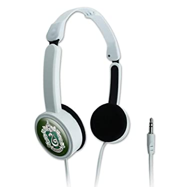 GRAPHICS & MORE Harry Potter Slytherin Painted Crest Novelty Travel Portable On-Ear Foldable Headphones