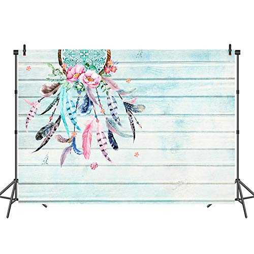 Mehofoto Tribal Party Backdrop Shabby Chic Dreamcatcher Backdrops for Wedding Baby Shower Boho Wood Background 7x5ft Photo Studio Props