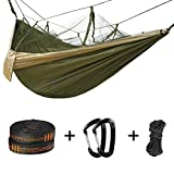 Double Camping Hammock with Mosquito Net - 2 Person Parachute...