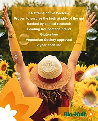 Bio-Kult Advanced Probiotics -14 Strains, Probiotic Supplement, Probiotics for Adults, Lactobacillus Acidophilus, No Need for Refrigeration, Non-GMO, Gluten Free Capsules-120 Count (Pack of 4)