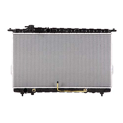Lynol Cooling System Complete Aluminum Radiator Direct Replacement Compatible With 2001-2005 Hyundai XG300 XG350 V6 3.0L 3.5L