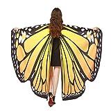 BYSTE Donne Ali delle Farfalle Scialle sciarpe Le signore Nymph Pixie Poncho Costume Accessorio (arancia)