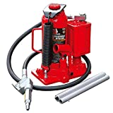 BIG RED TA91206 Torin Pneumatic Air Hydraulic Bottle Jack with Manual Hand Pump, 12 Ton (24,000 lb) Capacity, Red