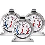 ZHITING 3PCS Termómetro para Frigorífico Refrigerador acero inoxidable Temperatura del Termómetro de esfera grande de la serie Clásica Refrigerador Thermometer