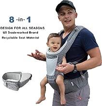 Dada Hip seat baby carrier,neutral gender grey,backpack,all season mesh light