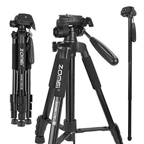 Cámara Trípode Canon Zomei Q222 Monopod Trípode Portátil de Viaje de 360 Grados con Bolsa de Transporte para Canon, Nikon, Sony DSLR