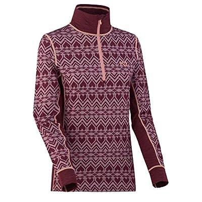 Kari Traa Women's Lune Base Layer Top - Half Zip Synthetic Thermal Shirt Port Large