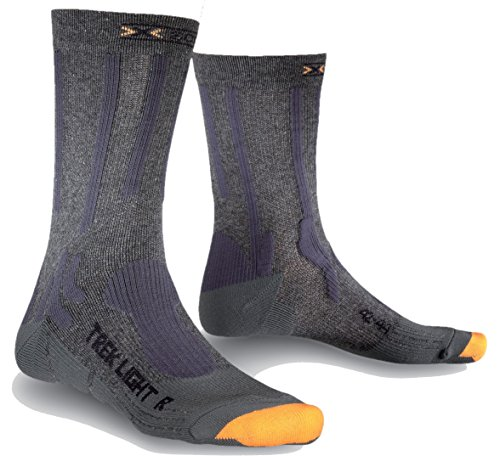 X-Socks Trekking Light Chaussette Mixte Adulte, Anthracite, FR : S (Taille Fabricant : S : 35-38)