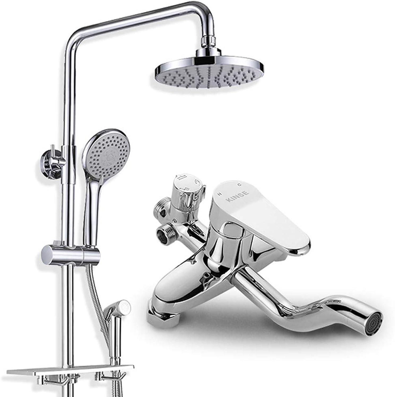 WAYPGC Duschset für die Wandmontage, Druckspritzpistole, Duschkopf, Handbrause, Wasserhahnboden-Bubbler, Multifunktions-Duschset