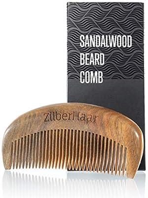 ZilberHaar Beard Comb – 100% Sandalwood – Essential Beard Care Accessory for Men – Hand Made by ZilberHaar