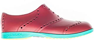 Biion Oxford Bright Unisex Golf Shoes - Brick Red/Teal - Men's
