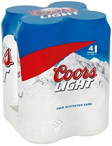 Coors Light 4 x 500ml
