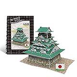 JYTTCE Estilo Mundo 3D Tridimensional Rompecabezas Ensamblado Manual Castillo Japonés Retro del Estilo Creativo Modelo