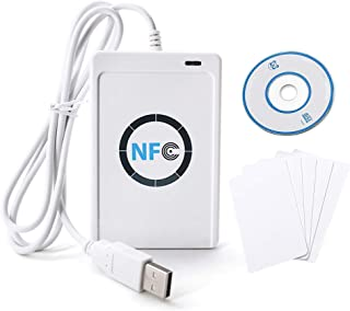 ACR122U Lector RFID NFC Lector RFID Escritor inteligente sin contacto, incluido lector sin contacto, SDK, 5 tarjetas Mifare USB IC, software blanco