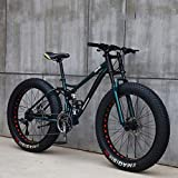HECHEN 26in Mountain Bikes, 7/21/24/27 Speed Variable Speed Bicycle, Adult Fat Tire Mountain Trail...
