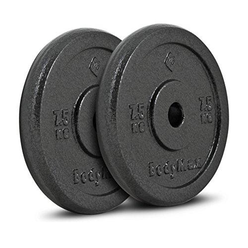 Bodymax Standard Hammertone Weight Disc Plates - 2 x 7.5kg
