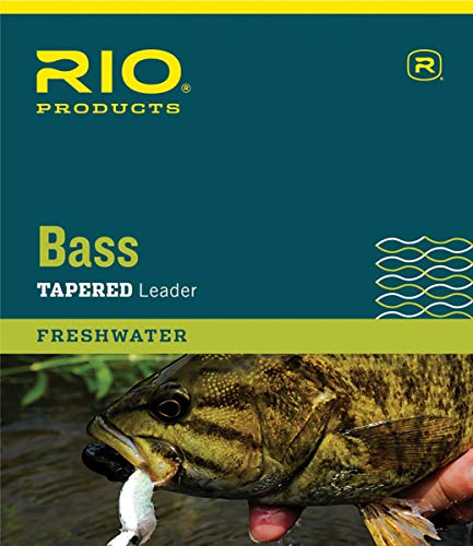 RIO Products Leaders Bass Leaders 9' 12Lb 3 Pack, Clear