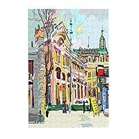 都市景観の絵画 木製パズル300ピース楽しいパズル減圧パズル300ピースバースデーギフトホリデーギフト