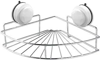 En acier inoxydable ventouse coin étagère de douche salle de bains shampooing titulaire étagère de douche support de range...