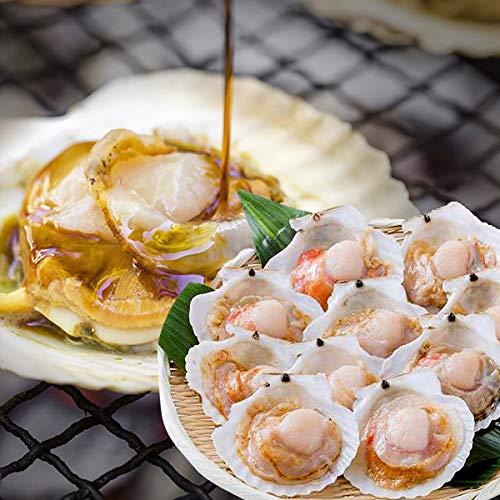 食の達人森源商店 殻付ほたて貝 10枚入り 調理しやすい片貝でバター焼きやバーベキューに ※冷凍便