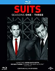 Suits (Seasons 1-3) - 11-Disc Box Set ( Suits - Seasons One, Two & Three (44 Episodes) ) Suits (Seasons 1-3) - 11-Disc Box Set Suits - Seasons One, Two & Three (44 Episodes)