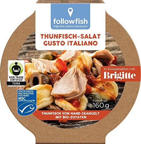 followfish MSC Fair Trade Thunfisch-Salat Gusto Italiano, 160 g