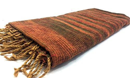 Terrapin Trading Ltd Ethical Tibetan Yak Wolle Schal Hippy Funky Festival Reise Blanket n370