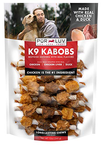 Pur Luv K9 Kabob Real Chicken and Duck Dog Treats, Brown (84725)