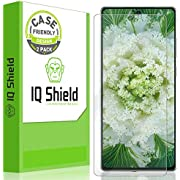 IQ Shield Screen Protector Compatible with Samsung Galaxy Note 20 (6.7 inch)(2-Pack)(Case Friendly) Anti-Bubble Clear Film